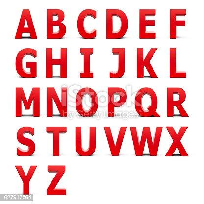 istock Red Alphabet set 627917564