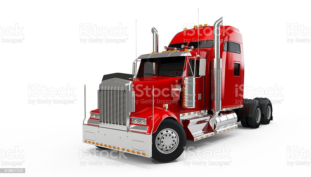 Red american truck stock photo