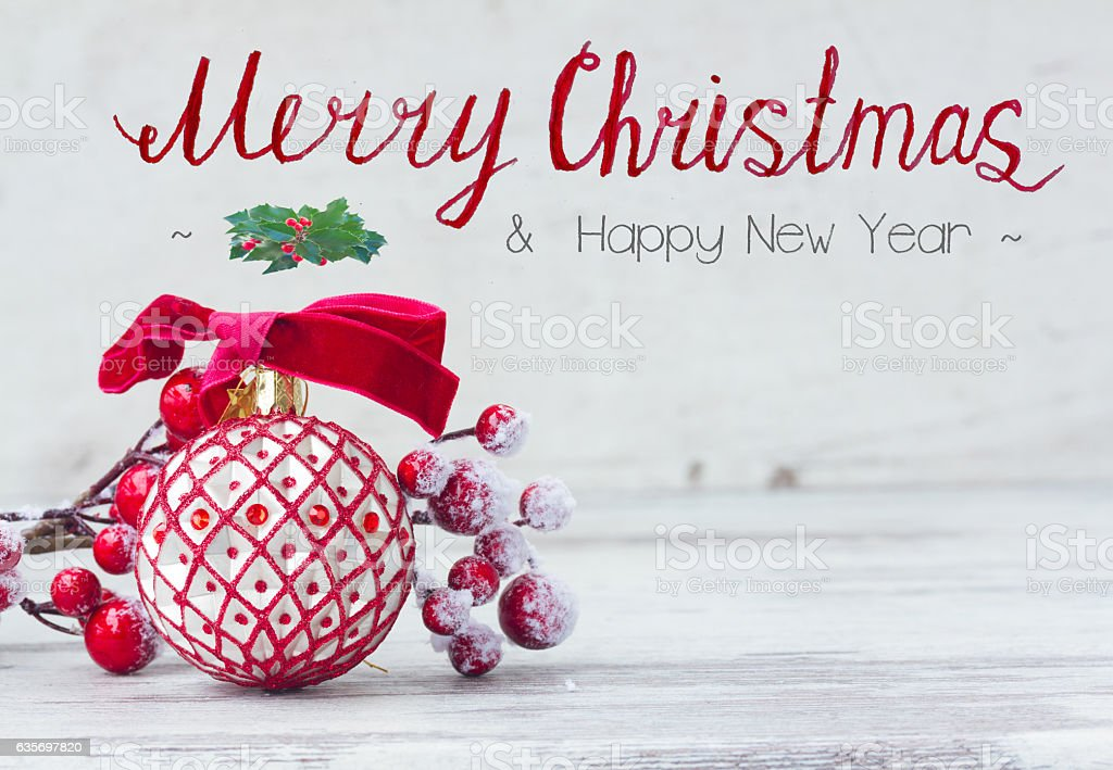 red an white christmas royalty-free stock photo