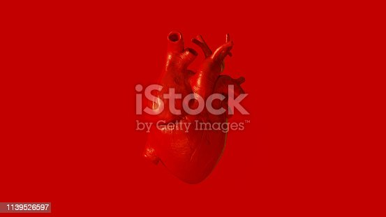 istock Red Anatomical Heart 1139526597