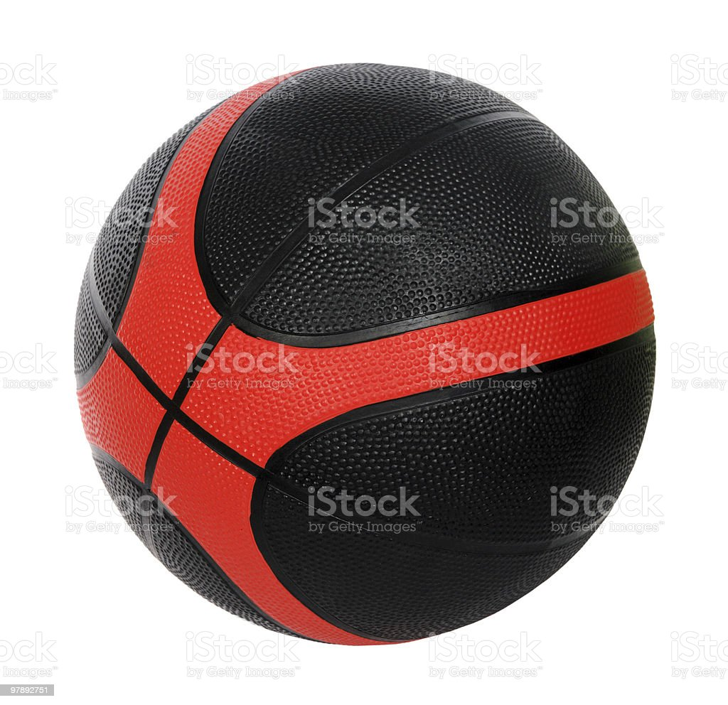 red and black basket-ball ball royalty-free stock photo