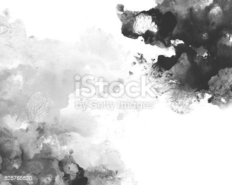 istock red and black calligraphy ink background 825765820