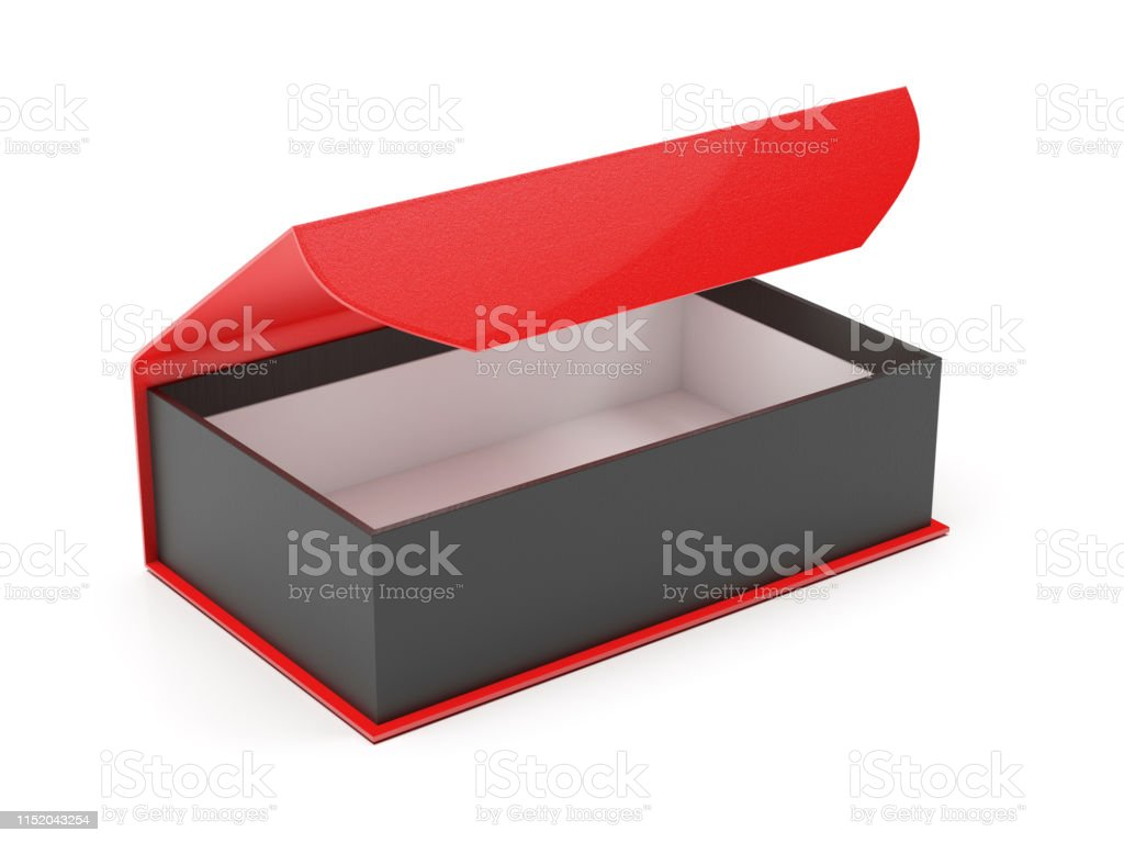 Red And Black Gift Box Open Jewelry Box With Magnetic Clasp 3d
