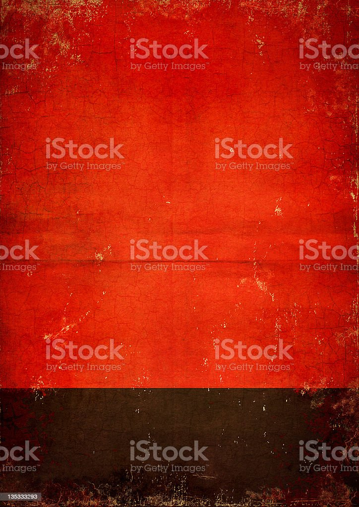 Red and black poster stock photo