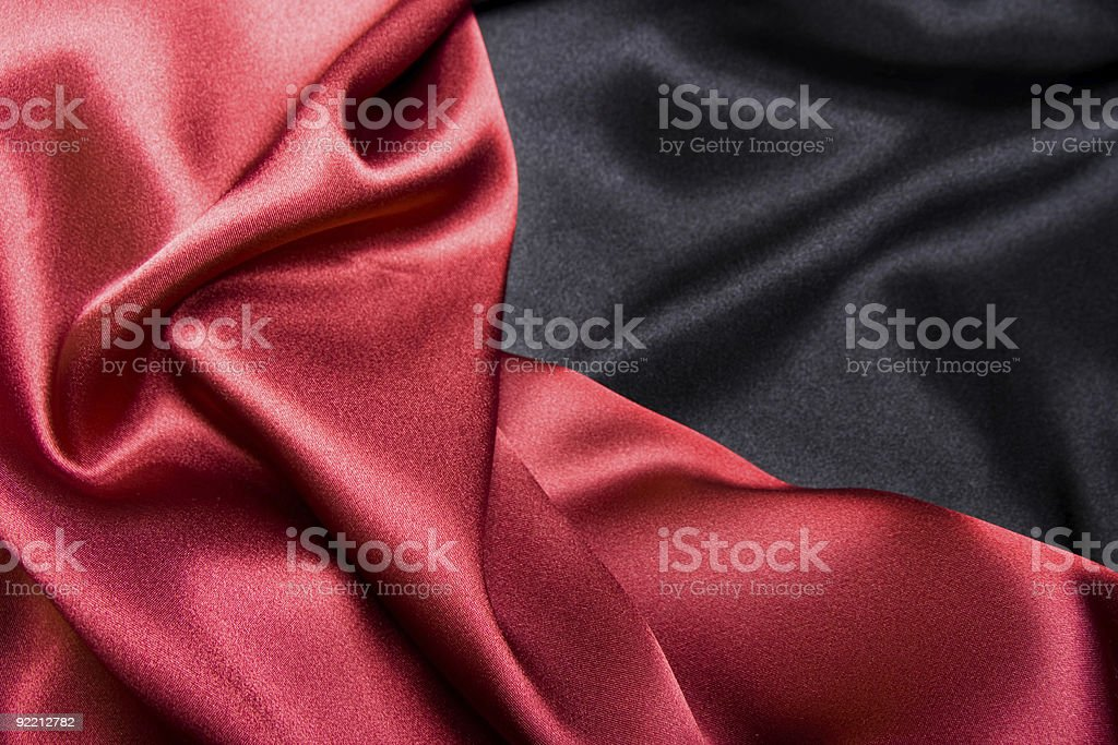 Red and black satin background stock photo