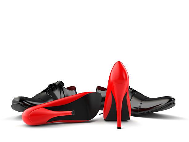 Chaussures rouge et noir - Photo