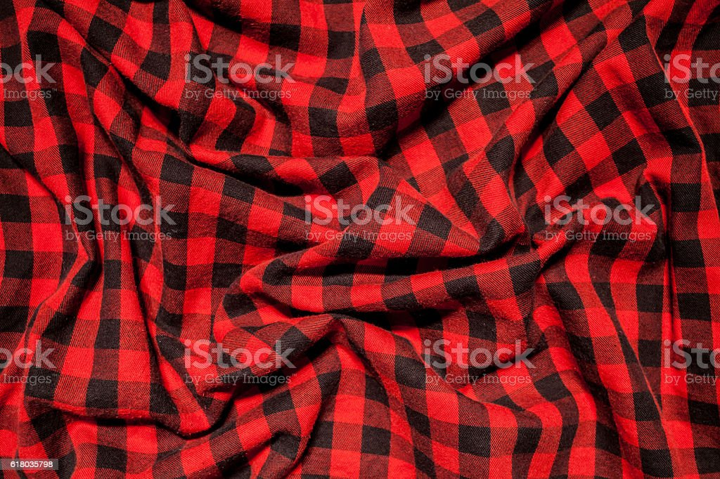 Red and  black tablecloth background stock photo