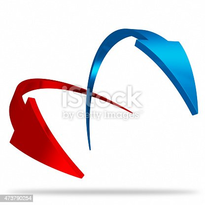 171150458istockphoto Red and blue arrow 473790254