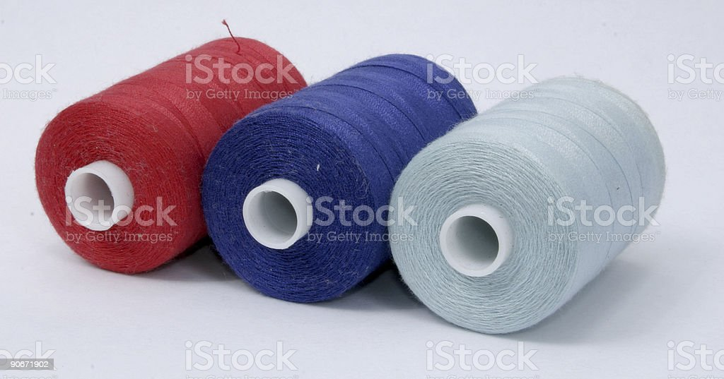 red and blue cotton stock photo