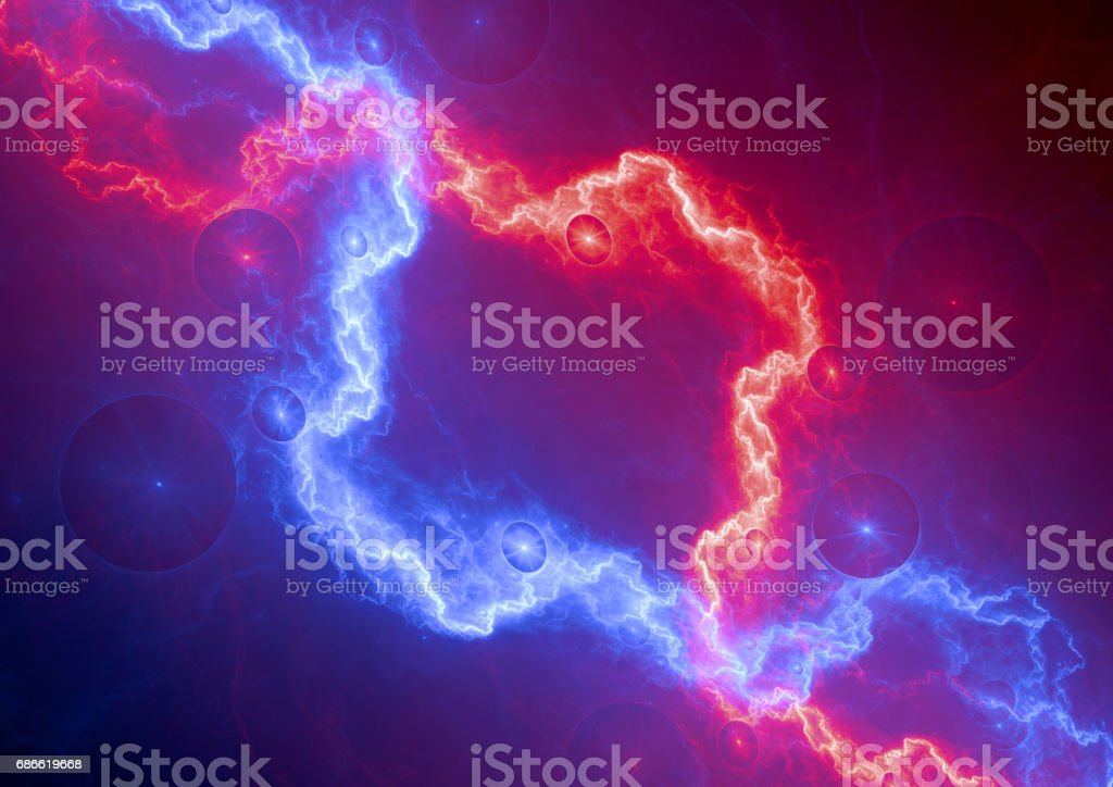 Red and blue electrical background royalty-free stock photo