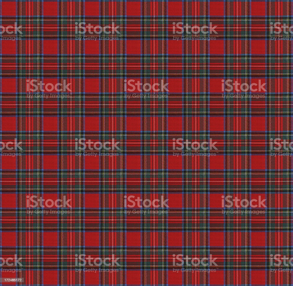 Red and Blue Gingham Tablecloth Pattern royalty-free stock photo