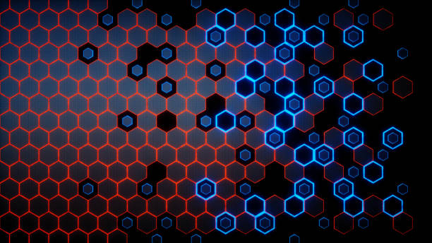 Red And Blue Honeycomb Wallpaper Stock Photo Download