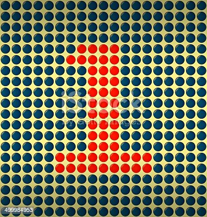 istock red and blue number on gold background 499984953