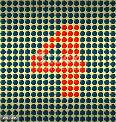 istock red and blue number on gold background 499984957