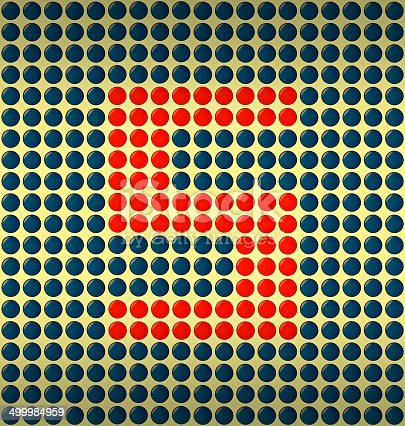 istock red and blue number on gold background 499984959