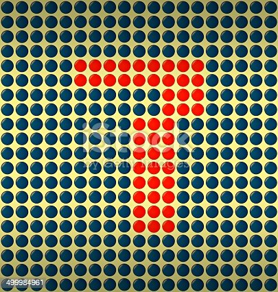 istock red and blue number on gold background 499984961