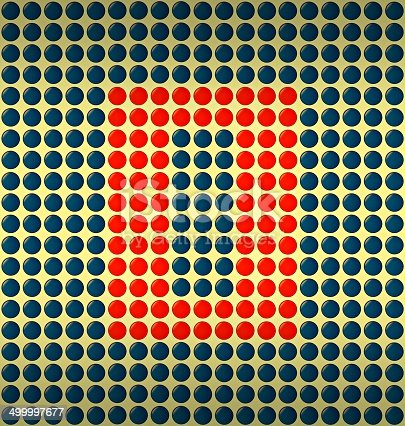 istock red and blue number on gold background 499997677