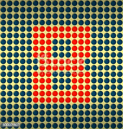 istock red and blue number on gold background 500001607