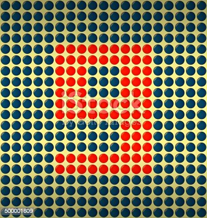 istock red and blue number on gold background 500001609