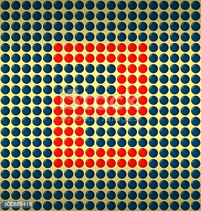 istock red and blue number on gold background 500885419