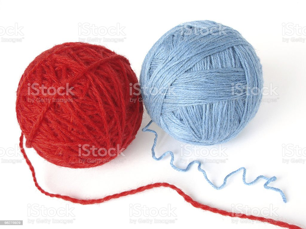 red and blue royalty-free stock photo