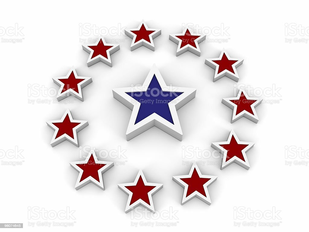 Red and Blue Stars royalty-free stock photo