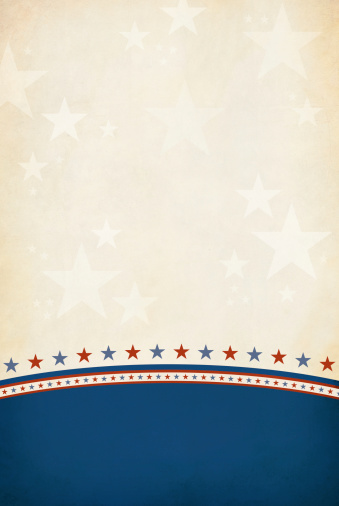 istock Red and Blue stars separating a blue and brown background 186333986
