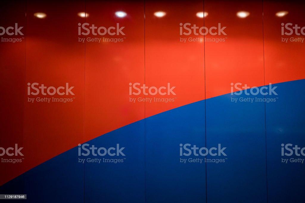 Rote und blaue Wand - Hintergrund – Foto