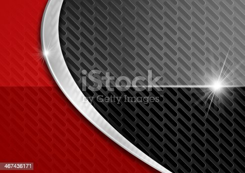 istock Red and Dark Metal Abstract Background 467436171