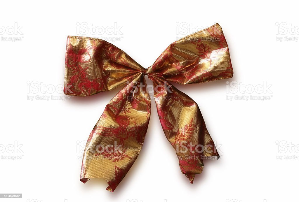 Red and Gold Bow royalty-free stock photo