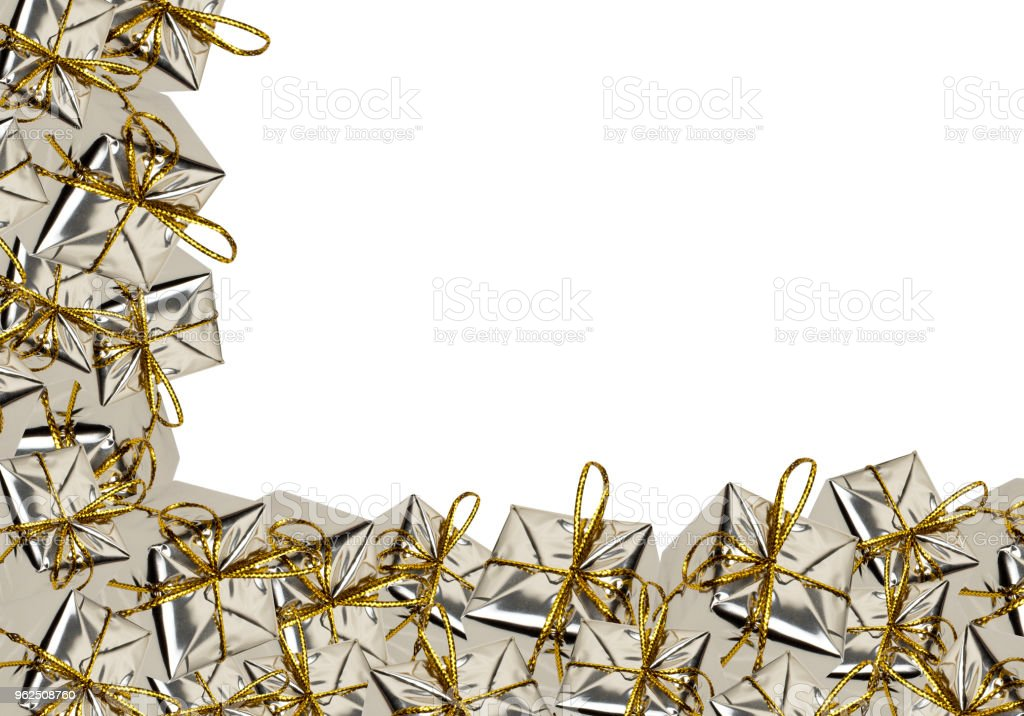 Red and gold christmas gift boxes - Royalty-free Christmas Stock Photo