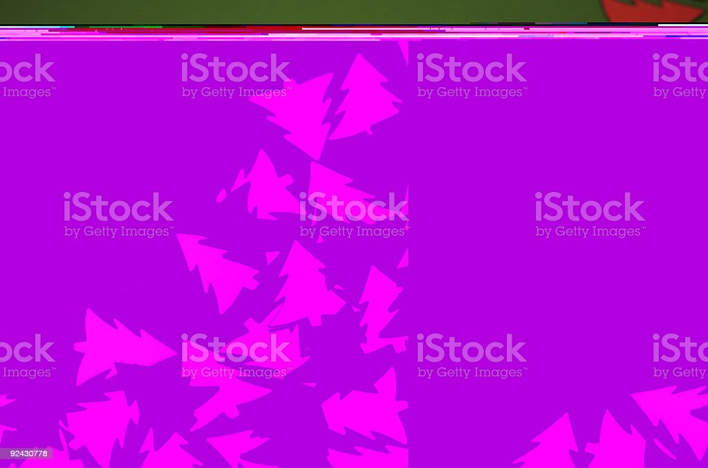 Red and Golden Christmass Trees royalty-free stock photo