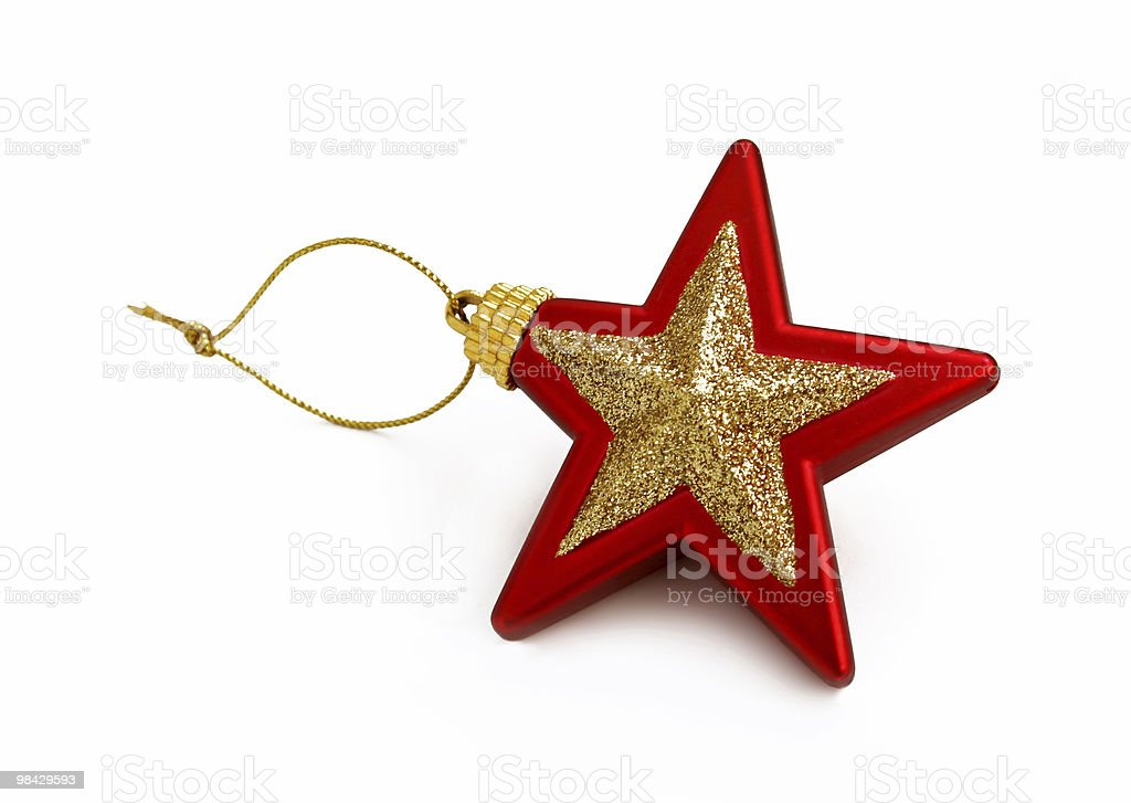 Red and golden star toy royalty-free stock photo