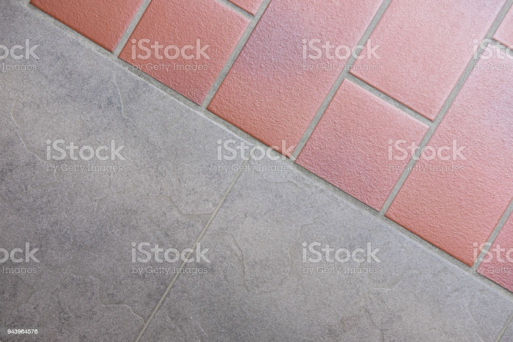 Red And Gray Ceramic Tile Combination Stock Photo More Pictures Of