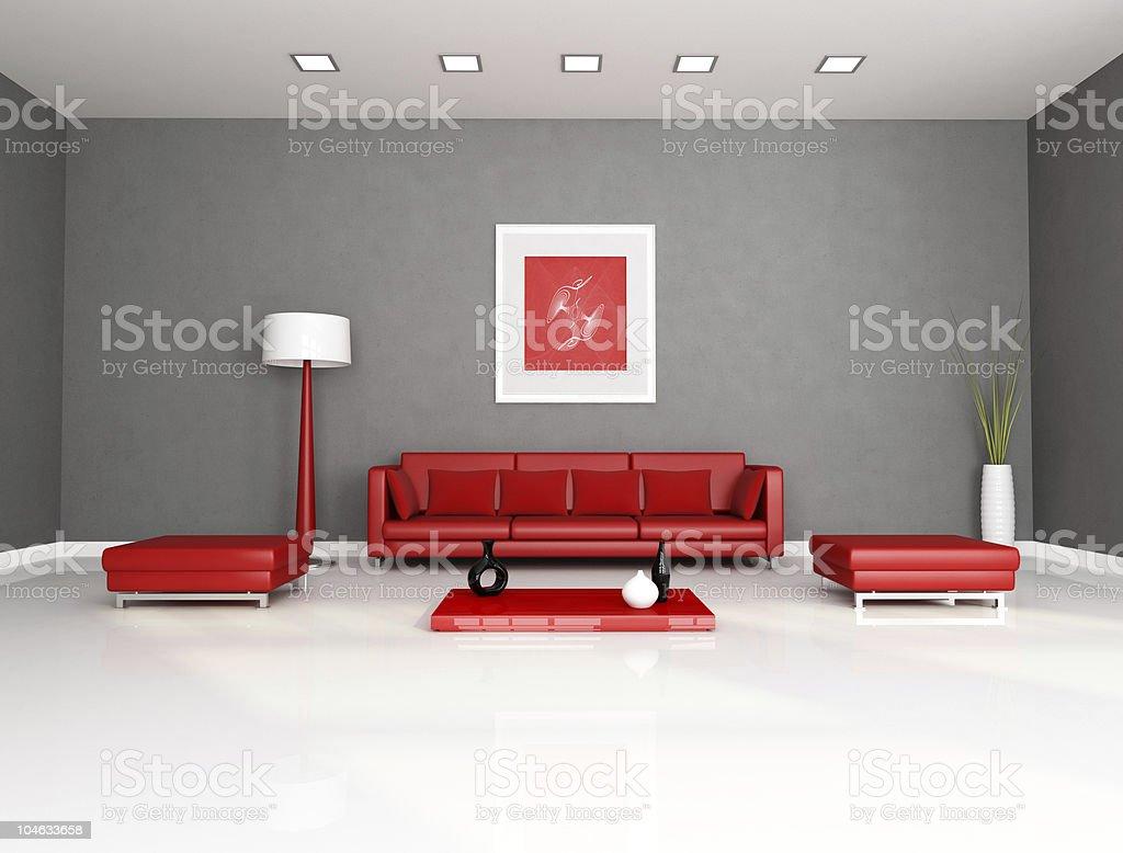 Divano Rosso E Grigio rosso e grigio soggiorno - fotografie stock e altre immagini
