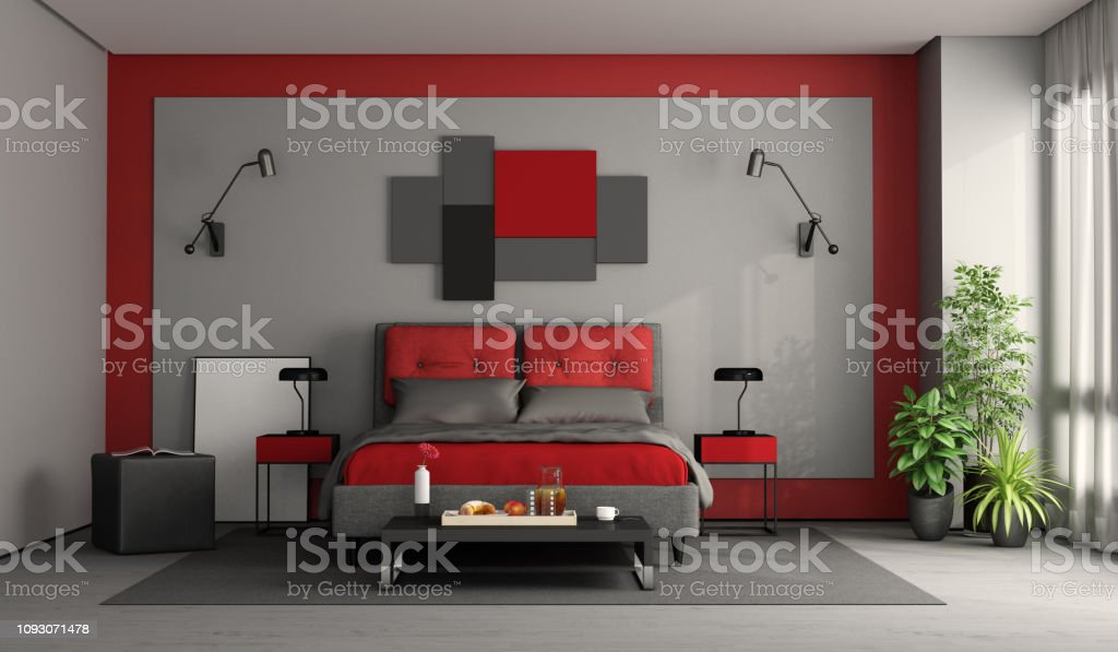19+ Chambre Rouge Moderne Background