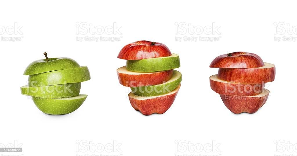 Red and green apples, mixed apple royalty-free stock photo