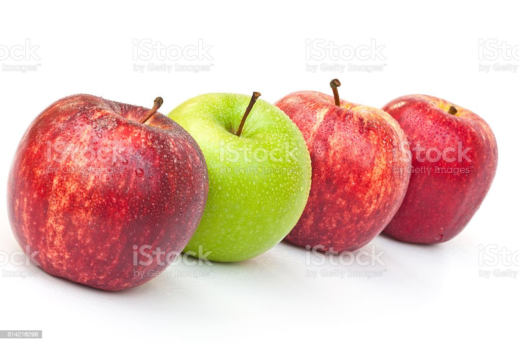 Red and green apples stock photo