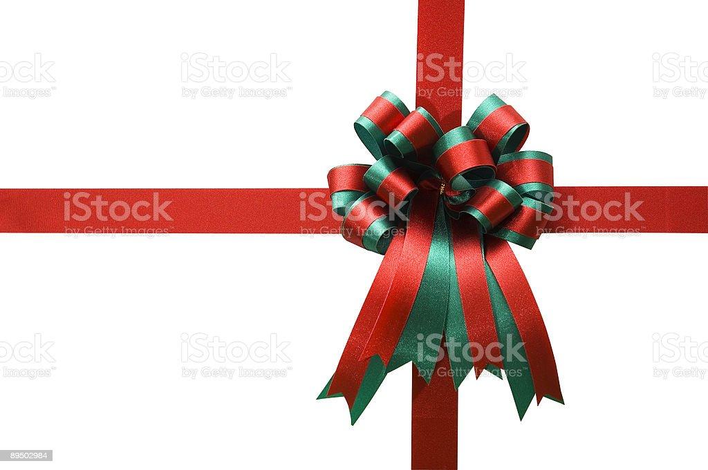 Fiocco rosso e verde foto stock royalty-free