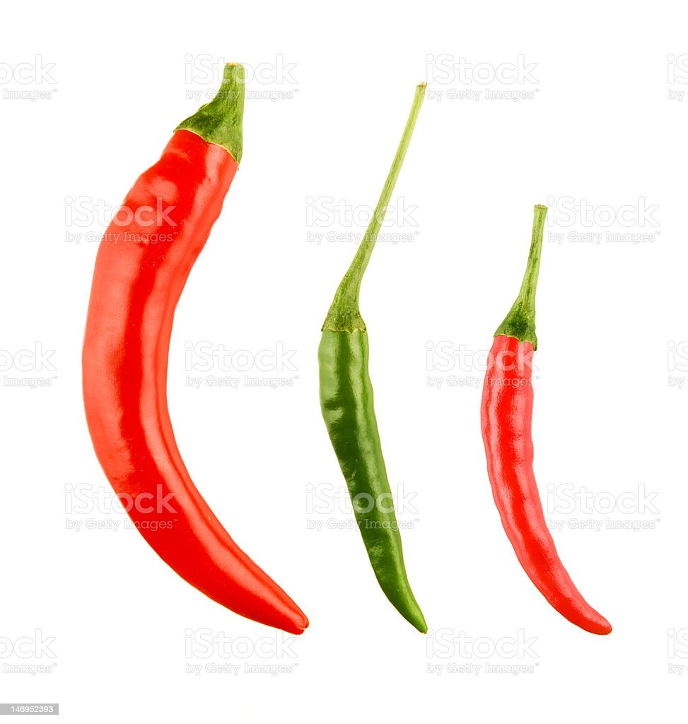 red and green chili peppers royalty-free stock photo