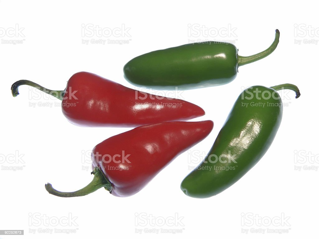 red and green hot peppers royalty-free stock photo