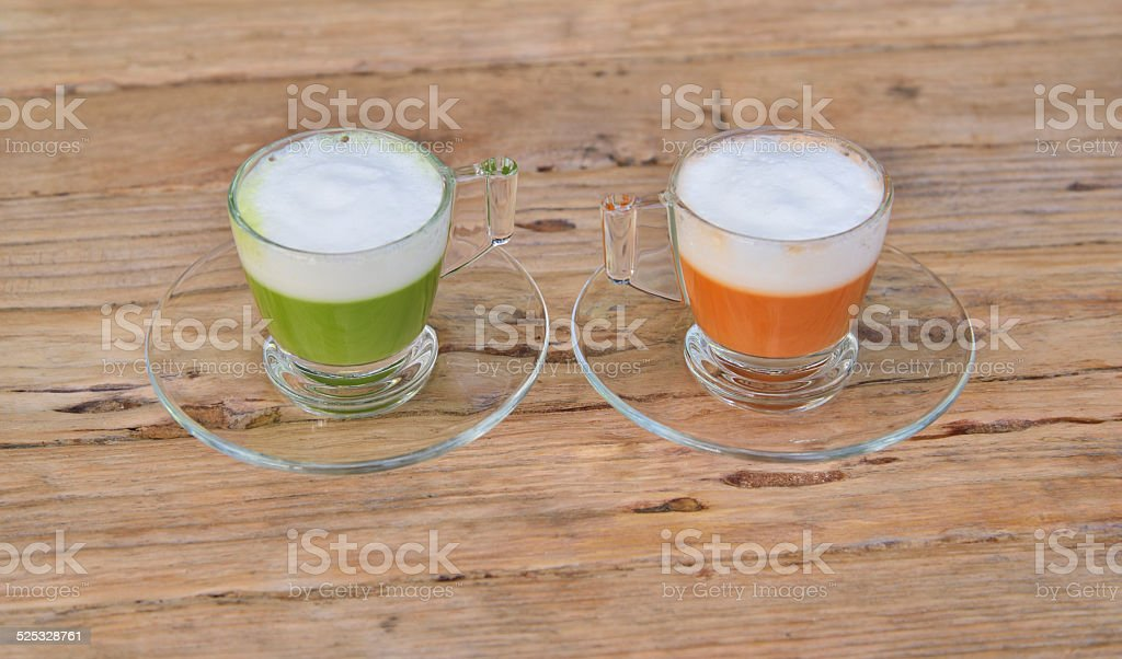Red and Green Hot tea stock photo