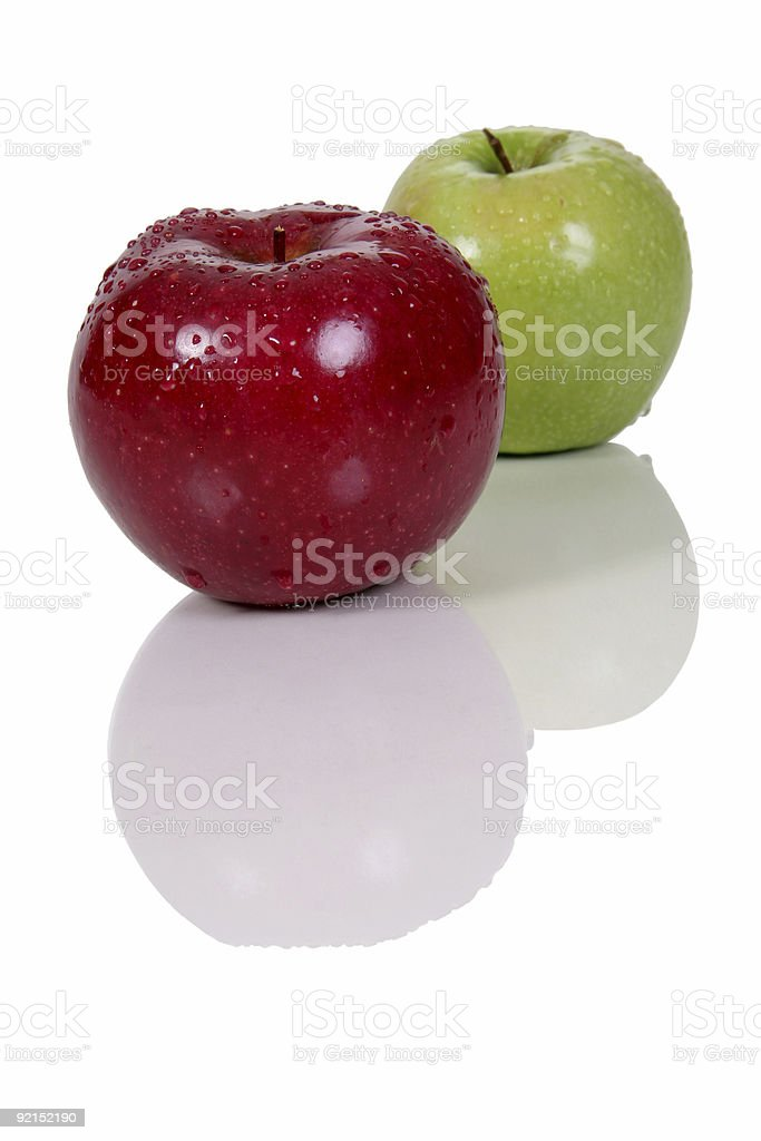 Red and green. stock photo