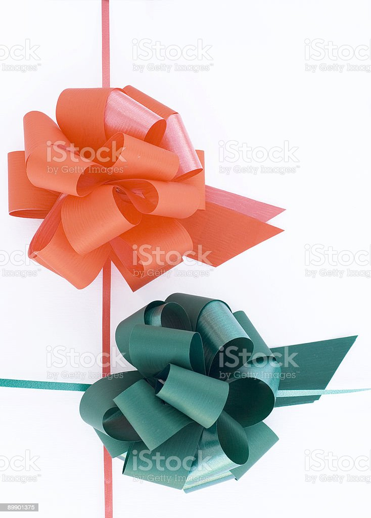Red and green ribbon royalty-free stock photo