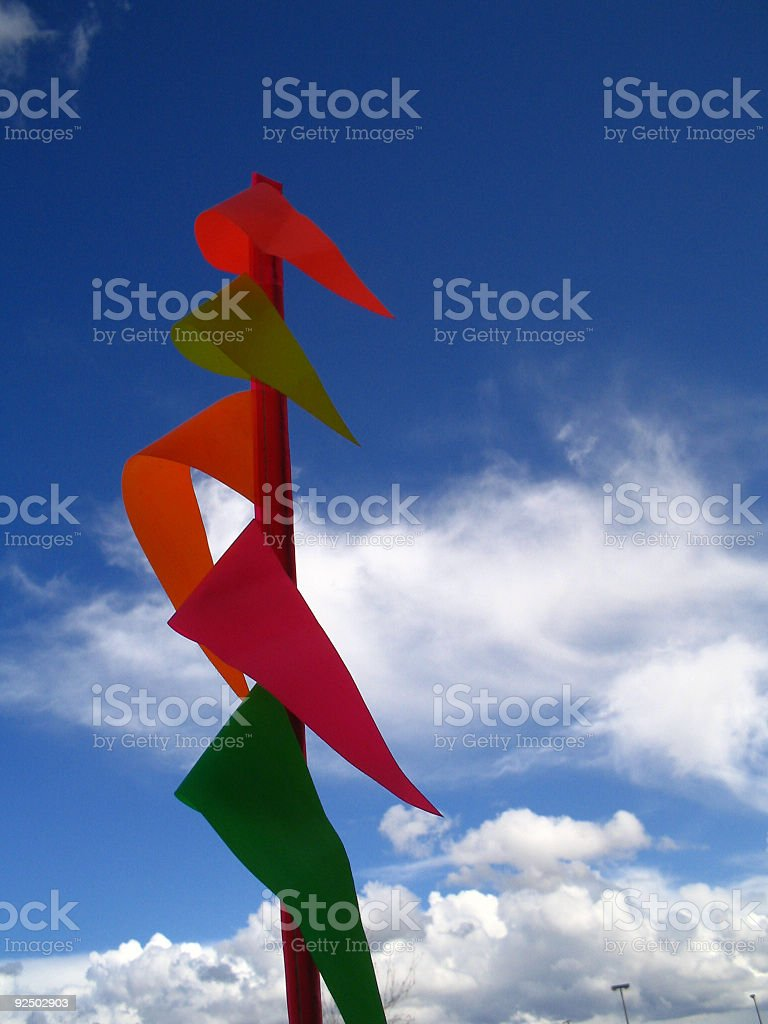 Red and Green waving royalty-free stock photo