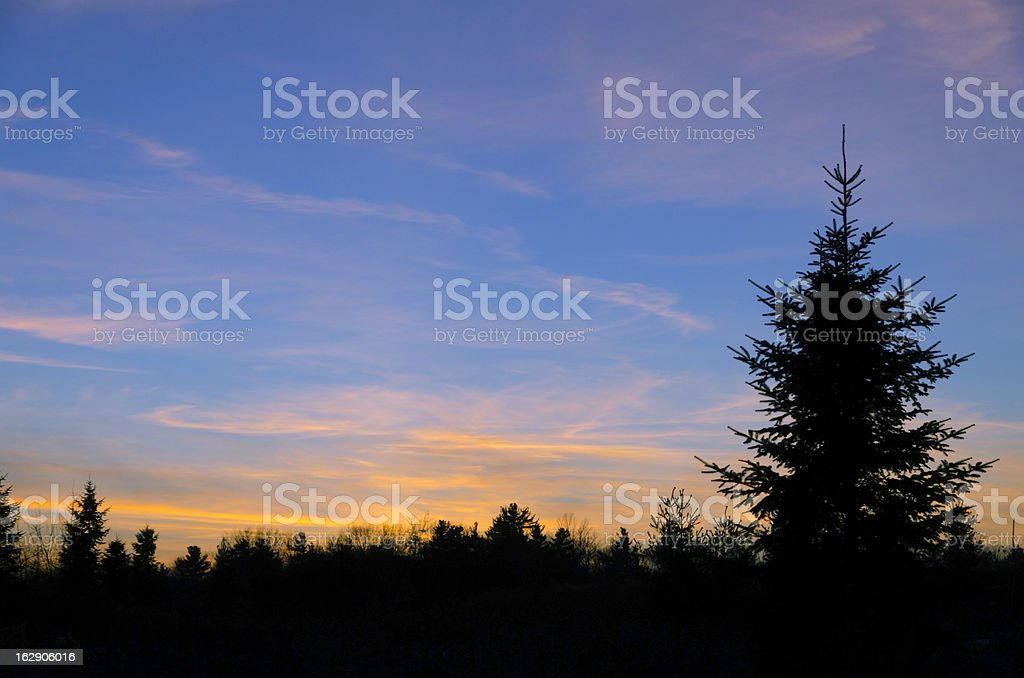 red and orange clouds royalty-free stock photo