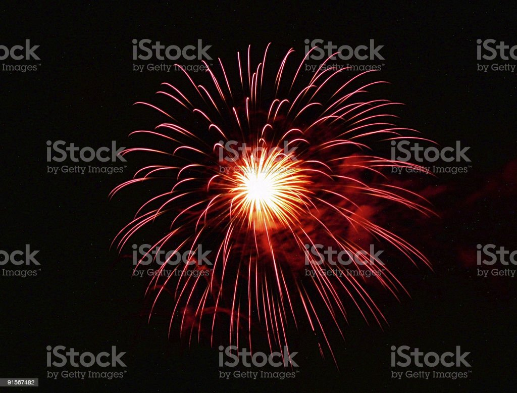 Red and Pink burst royalty-free stock photo