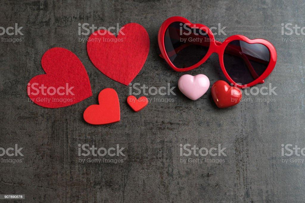 Photo Libre De Droit De Formes De Coeur Rouge Et Rose Avec