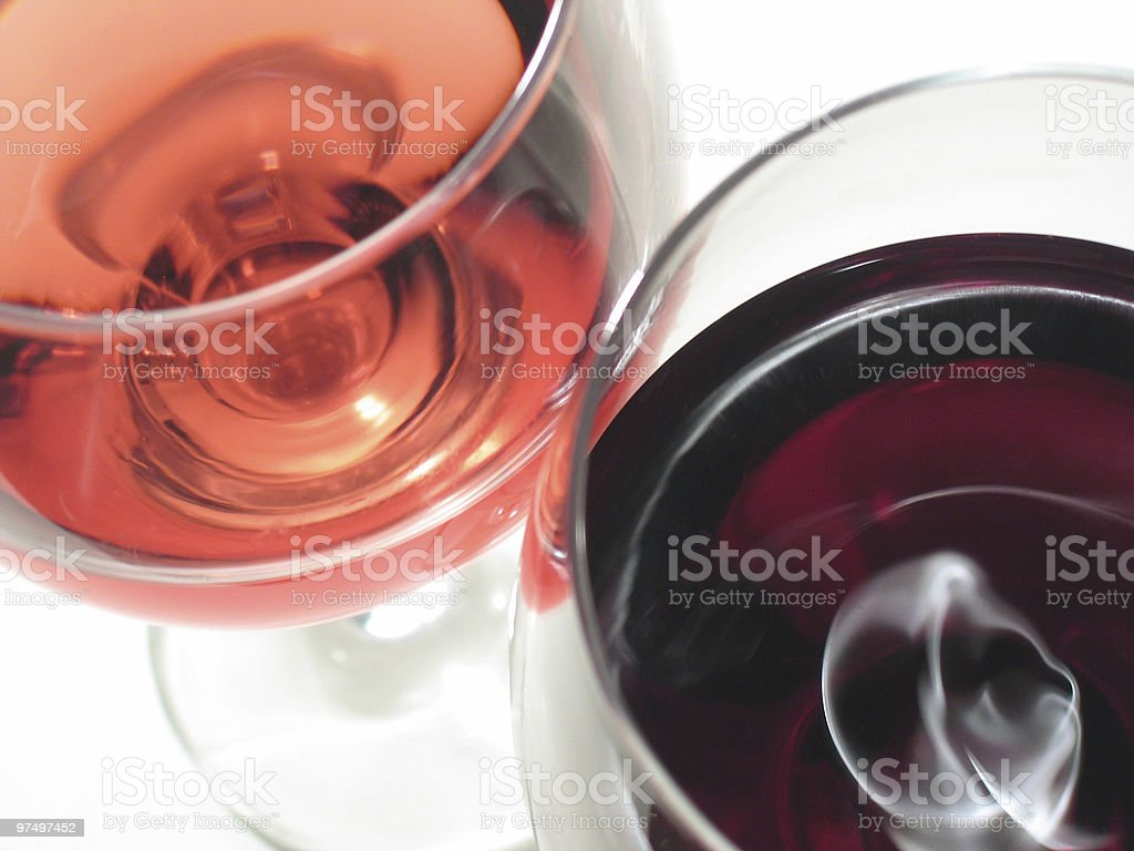 red and rose wine royalty-free stock photo