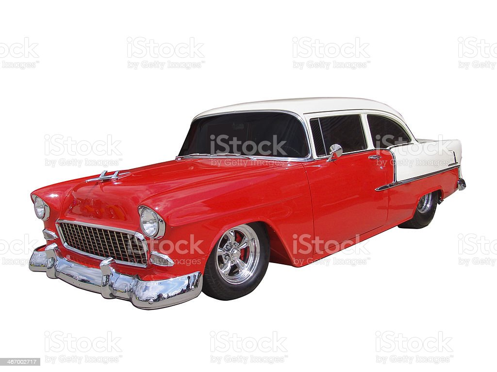 Red and White 50's Classic stock photo